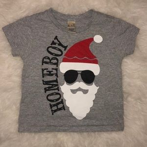 Santa is my Homeboy Christmas shirt 12m